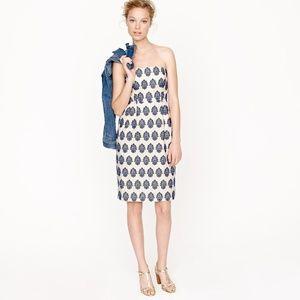 J.Crew | Filigree Embroidered Strapless Dress 10
